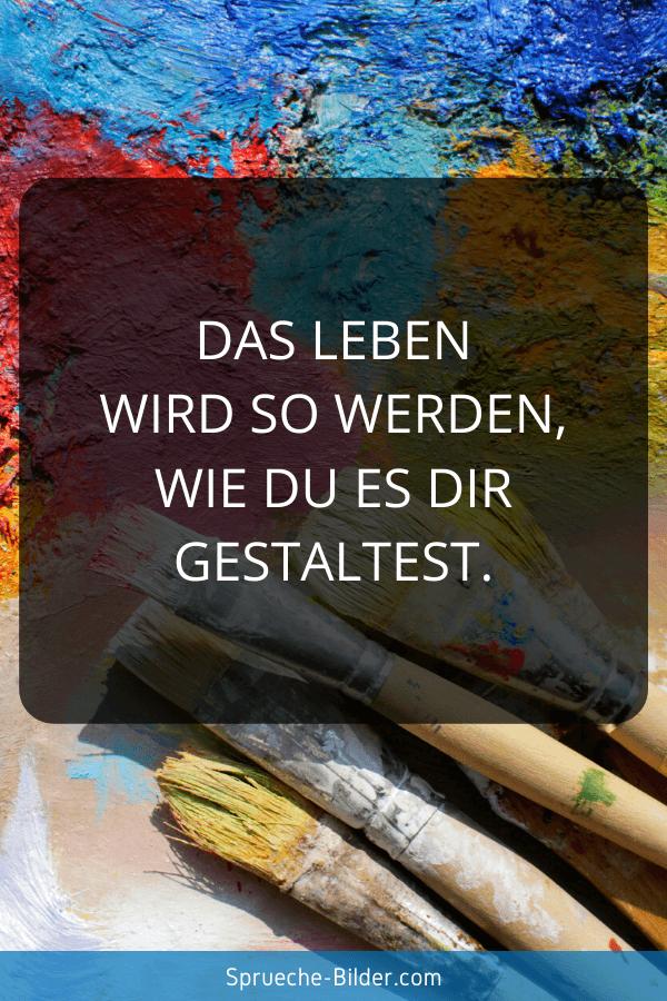Jugendweihe Sprüche - Das Leben wird so werden, wie Du es Dir gestaltest.