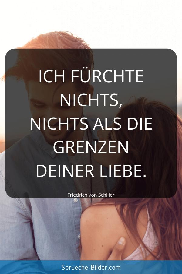 Liebessprüche - Ich fürchte nichts, nichts als die Grenzen deiner Liebe. Friedrich von Schiller