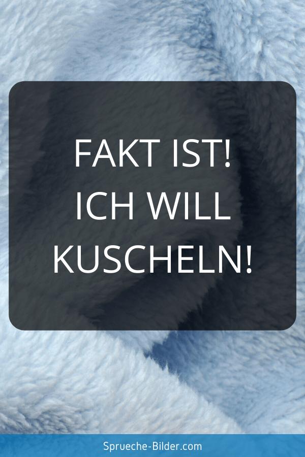 WhatsApp Sprüche - Fakt ist! Ich will kuscheln!