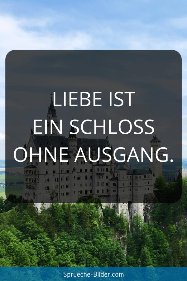 WhatsApp Sprüche - Liebe ist ein Schloss ohne Ausgang.